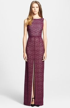 Alice + Olivia 'Gemma' Lace Column Gown available at #Nordstrom