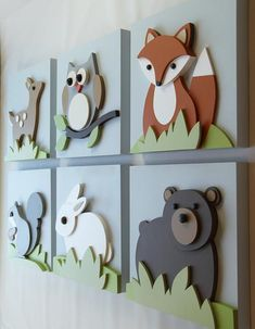 Items similar to Set of 3 Woodland Nursery Art, Woodland Baby & Kids Room Wall Decor--Fox Bear Owl Rabbit Squirrel Deer on Etsy Wood Nursery, Nursery Art, Nursery Decor, Baby Decor, Room Decor, Woodland Animal Nursery, Woodland Animals, Woodland Baby, Forest Animals