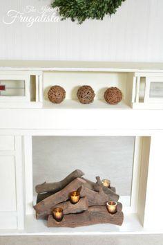 Wildon Home ® Resin Tealight Fireplace Log | Shopping | Pinterest ...