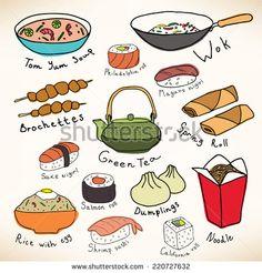 rice food vector - Google 검색