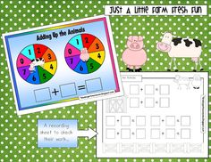 Free Farm Math Game  Courtesy of Fran @Kindergarten Crayons