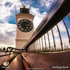 The Clock Tower is a distinctive symbol of the Petrovaradin fortress and the city of Novi Sad, Serbia.  | Сахат кула је препознатљив симбол Петроварадинске трврђаве и Новог Сада. Сат потиче из Алзаса у Француској, а Петроварадину га је поклонила царица Марија Терезија. | Photo: milosgizdovski Novi Sad, Danube River, Fortification, Meet, Urban, Building, Places, Travel, Instagram