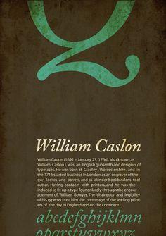 Caslon Font Posters by Hadeel Alawneh, via Behance