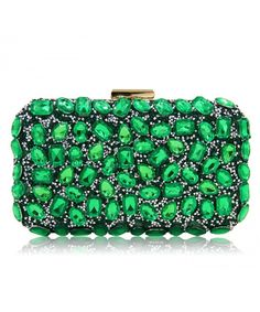 Women Clutch Bag Pure Beaded Evening Bag Diamond Party Clutches Purse -  Green - C2183Q7L90I   8732970e0e6a