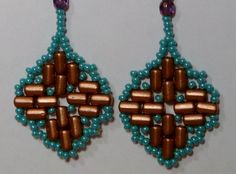 Moroccan Lantern Earrings tutorial with Rulla beads by Nuit Noire