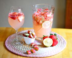 17 Super Easy Sangrias To Make This Summer - Strawberry Sangria with Rhubarb-Infused Syrup
