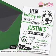 Soccer free printable birthday party invitations birthday party soccer birthday party invitations all star sports by cutepartydash filmwisefo