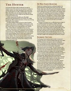 Homebrewing races Homebrewing class DnD Homebrew Hunter class by and Adelaide_Adelier Dungeons And Dragons Classes, Dungeons And Dragons Homebrew, Twilight Princess, Blood Hunter, The Hunter, D D Races, Dnd Classes, Dnd 5e Homebrew, Dragon Rpg