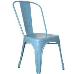 """Zu finden auf http://www.my-little-store.de/ieer5p28f30a8zls:189 Stuhl TOLIX von Die Wohngeschwister Dieser Stuhl aus Frankreich ist mit seinem zeitlosen Design mittlerweile zum """"Kultstatus"""" für alle Inneneinrichtungsfans geworden - und das zurecht!  Die ersten Metallstühle wurden 1934 von Designer Xavier Pauchard in Frankreich entworfen. Durch die galvanische Verzinkung sind sie pflegeleicht und robust. Und ganz nebenbei ist der Stuhl auch noch sehr bequem!"""