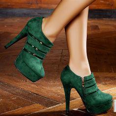 Bottines femme Vert taille 38, achat en ligne Bottines femme sur MODATOI