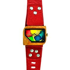 Mistura Pellicano SE Watch Red Strap Pui Wood Multicolor Dial -- You can get more details by clicking on the image.