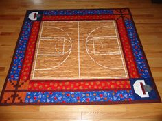 Basketball Quilt  description at redeyecrafts.blogspot.com