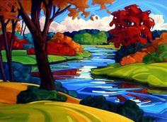 Les Oeuvres, Lacs, Recherche Google, Puzzles, Painting, Inspiration, Landscapes, How To Paint, Hunting