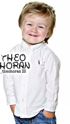 He's soooo adorable! I want to hug him so bad! i know where he gets his cute and adorableness from! Theo Horan, James Horan, Niall Horan, You're Beautiful, Beautiful Babies, Family Boards, Look After Yourself, Precious Children, Be My Baby