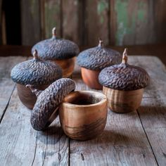 Woodland Acorn boxes by Brenda Watts