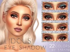 The Sims Resource: Lidous Eyeshadow by taraab • Sims 4 Downloads