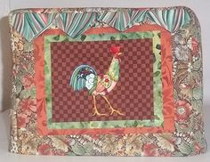 Rooster Toaster Cover by PatsysPatchwork on Etsy, $18.00
