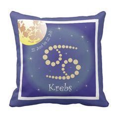 Krebs 22. Juni bis 22. Juli Kissen February 19, Juni, Cancer, Tapestry, March, June 22, Taurus, Astrology Signs, Fish