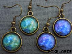 Leo Zodiac Earrings Leo Constellation Earrings Zodiac by Pixelosis
