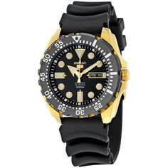 4645899a2be Seiko 5 Sports Automatic Black Dial Black Rubber Men s Sports Watch SRP608