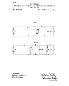 Method of and Apparatus for Electrical Conversion and Distribution Tesla S, Nikola Tesla, Unit Of Time, Electronic Circuit Design, Radiant Energy, High Tension, Electrical Energy, Conversation, Self