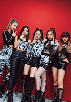 Photo album containing 7 pictures of ITZY Stage Outfits, Kpop Outfits, Skirt Outfits, Kpop Girl Groups, Korean Girl Groups, Kpop Girls, K Pop, Pop Kpop, New Girl