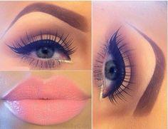 So so beautiful! I love the eyelashes & that lipstick, gorgeous!