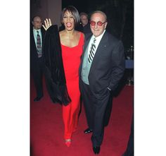 Whitney with Clive Davis in 1999