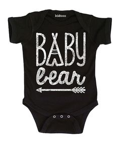 Love this Black 'Baby Bear' Bodysuit - Infant by Cotton Jungle on #zulily! #zulilyfinds