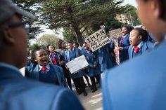 In photos: High school protests spread to the Western Cape School S, High School, Westerns, Education, Photos, Chiffon, Pictures, Grammar School, High Schools