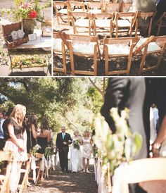 love the chair decor!  Rustic Handmade Wedding: Alisa + Kyle
