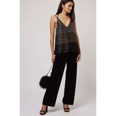 99fe7f23496 Details about NEW TOPSHOP SEQUIN BLACK GOLD OMBRE CAMI TOP 6 to 16 RRP £42