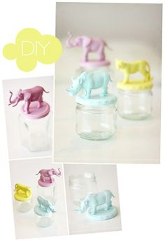 Animal Topper Jars DIY Tutorial