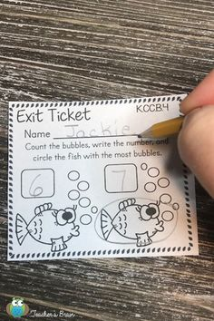 If you thought exit tickets were just for the older grades, check out these AMAZING Kindergarten common core MATH exit tickets. Even if you've never used exit tickets, these are SO quick and easy to check to see what your students know!