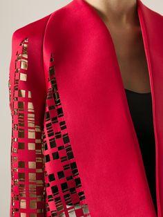 Shrug Cardigan, Laser Cutting, Vests, Cardigans, Blazers, London, Paper, Red, Jackets