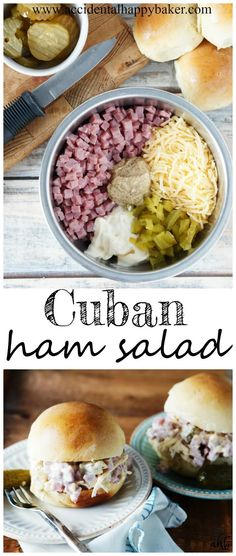 up your sandwiches with this easy Cuban ham salad. This zippy sandwich sprea Pep up your sandwiches with this easy Cuban ham salad. This zippy sandwich sprea. Pep up your sandwiches with this easy Cuban ham salad. This zippy sandwich sprea. Subway Sandwich, Kubanisches Sandwich, Sandwich Spread, Soup And Sandwich, Sandwich Recipes, Sandwich Fillings, Ham Salad Recipes, Pork Recipes, Mexican Food Recipes