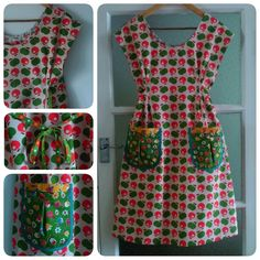 A second #dottieangelfrock (with apples) made in organic cotton by Ivy Arch. Fantastic sewing pattern, this!