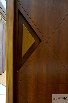Minimalist Luxury With A Swish Theme Apartment Interior Wooden Front Door Design, Main Entrance Door Design, Wooden Front Doors, Modern Entrance Door, Wood Doors, Bedroom Door Design, Door Design Interior, Flush Door Design, Bedroom Doors
