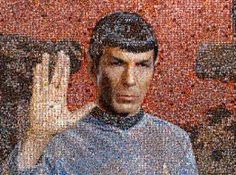 William Shatner just created a moving tibute to Leonard Nimoy: a mosaic of selfiies that forms an image of Star Trek's Spock