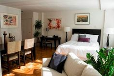 single studio apartement Small Studio Apartment Decorating Ideas On A Budget - poshhome.info