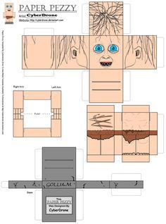 Paper Pezzy- Gollum by CyberDrone.deviantart.com on @deviantART