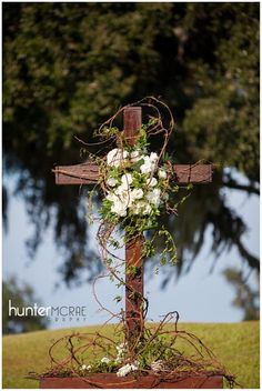 HunterMcRaePhotographyBLOG__028 Altar Flowers, Church Flower Arrangements, Church Flowers, Funeral Flowers, Floral Arrangements, Wedding Flowers, Church Altar Decorations, Cemetery Decorations, Wedding Cross