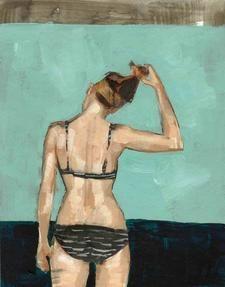 modern sea painting print