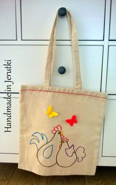 Handmade in Jerutki: Torba z kurkami / shopping bag