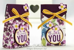 Painted Blooms mini bag. In, Canada get Stampin' Up! at http://tracyelsom.stampinup.net