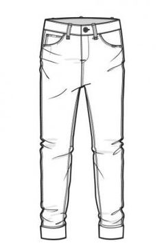 Super Ideas For Fashion Ilustration Sketches Jeans Clothing Templates, Clothing Sketches, Fashion Templates, Clothing Patterns, Flat Drawings, Flat Sketches, Technical Drawings, Jeans Drawing, Drawing Clothes