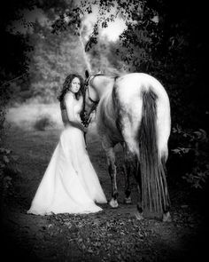 You will need a horse...or two at a Shabby Cowgirl Wedding.