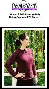 Woven Rib Pullover in Cascade 220 - A108
