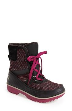 "THESE WILL BE MINE!!! Just gotta try on! Free shipping and returns on SOREL 'Tivoli II"" Waterproof Blanket Boot (Women) at Nordstrom.com. A vibrant woven knit shapes a charming, waterproof boot outfitted with a molded rubber sole to keep feet dry no matter what the conditions. A snuggly fleece lining, enhanced with 100 grams of Thinsulate® insulation, ensures feet stay toasty warm."