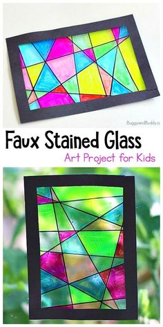 , basteln glass crafts for kids Faux Stained Glass Suncatcher Craft for K. , basteln glass crafts for kids Faux Stained Glass Suncatcher Craft for Kids - Buggy and Buddy. Stained Glass Crafts, Faux Stained Glass, How To Do Stained Glass Diy, Art Activities For Kids, Kids Crafts, Arts And Crafts For Kids Easy, Simple Crafts, School Age Activities, Kindergarten Art Projects